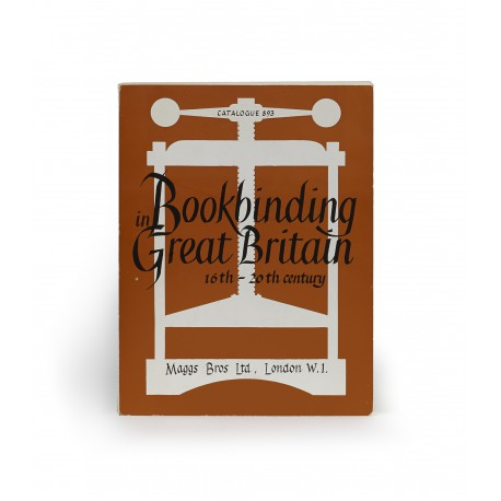 [Stock catalogues, numbered series: 893] Bookbinding in Great Britain, sixteenth to the twentieth century