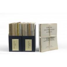 "A fine run of Heilbrun's catalogues, lacking just one of the 45 comprising his ""Nouvelle série"" (Catalogue 41: Collection des éditions populaires de Victor Hugo, 1974)"