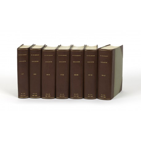 Catalogues (bound by size) 1-7 (1923-1925) • 8-11 (1925-1927) • 12-16 (1927-1929) • 17-21 (1929-1930) • 22-26 (1930-1931) • 28-38 (1931-1935) • 39-47 (1935-1938)