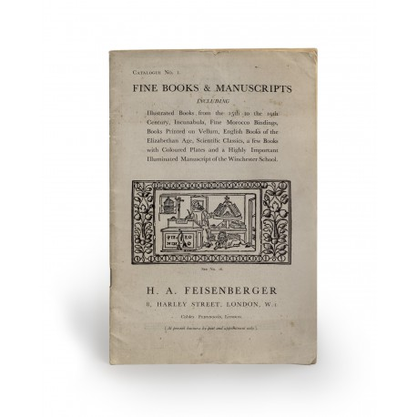 [Stock catalogues, numbered series: 1] Fine books & manuscripts : including books from the 15th to the 19th century, incunabula, fine morocco bindings, books printed on vellum, English books of the Elizabethan age, scientific classics, a few books with coloured plates and a highly important illuminated manuscript of the Winchester School