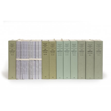 The Library: the transactions of the Bibliographical Society (Sixth series, volumes 11-21, 1989-1999; Seventh series, volumes 1-17, 2000-2016)