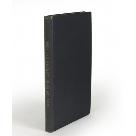 Catalogue of an important portion of the extensive & valuable library of the late Sir John Hayford Thorold, Bart., removed from Syston Park, Lincolnshire (catalogue for an auction conducted by Sotheby, Wilkinson & Hodge, London, 12-19 December 1884)