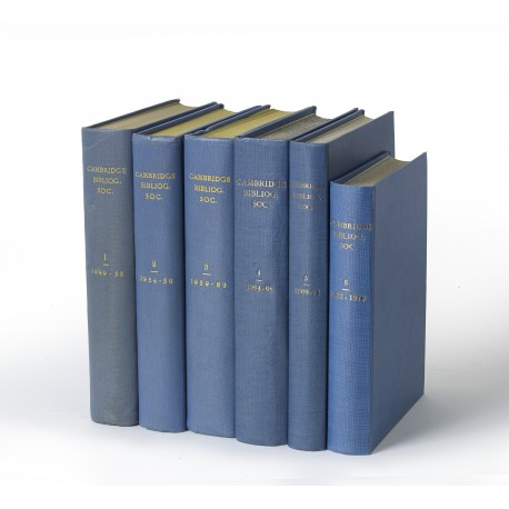 Transactions of the Cambridge Bibliographical Society (volumes 1-6, 1949-1976)