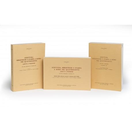 Scrittura, biblioteche e stampa a Roma nel Quattrocento: aspetti e problemi. Atti del Seminario 1-2 giugno 1979 (Littera Antiqua, 1-2)