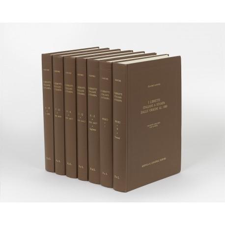 I libretti italiani a stampa dalle origini al 1800 : catalogo analitico