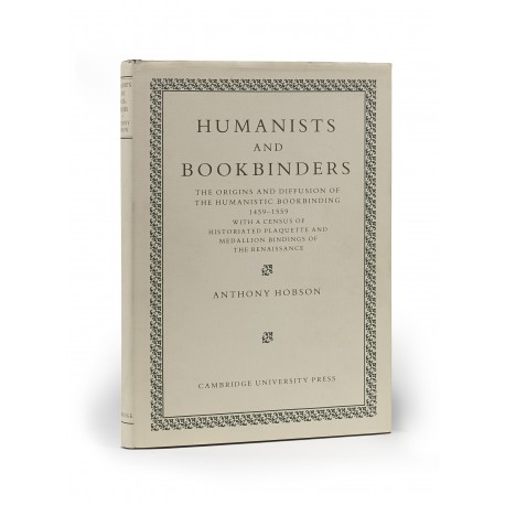 Humanists and bookbinders : the origins and diffusion of the humanistic bookbinding, 1459-1559, with a census of historiated plaquette and medallion bindings of the Renaissance