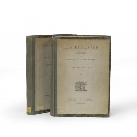 Les Elzevier : Histoire et annales typographiques