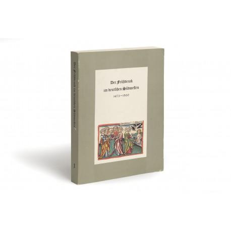 Die Frühdruck im deutschen Südwesten 1473-1500, l: Ulm (catalogue of an exhibition held at the Württembergische Landesbibliothek in 1978)