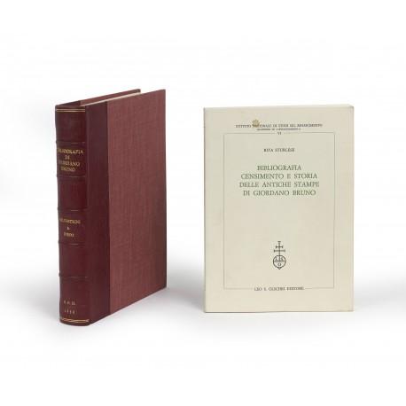 Bibliografia di Giordano Bruno 1582-1950 (Biblioteca Bibliografica Italica, 12) § Bibliografia, censimento e storia delle antiche stampe di Giordano Bruno (Istituto Nazionale di Studi sul Rinascimento, Quaderni di Rinascimento, 6)