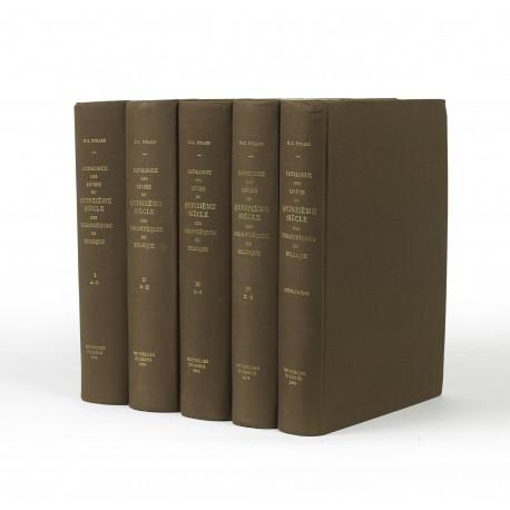 Catalogue des livres imprimés au quinzième siècle des bibliothèques de Belgique