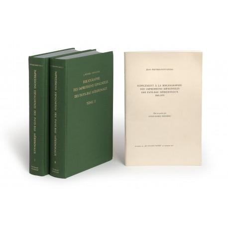 Bibliographie des impressions espagnoles des Pays-Bas méridionaux § Supplément a la Bibliographie des impressions espagnoles des Pays-Bas méridionaux, 1965-1975. Mis au point par Anne-Marie Frédéric