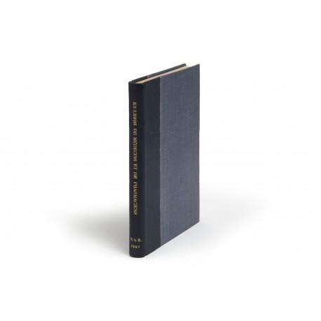 Essai de répertoire des Ex-libris et fers de reliure des médecins et des pharmaciens français antérieurs à la période moderne… Avec 212 reproductions