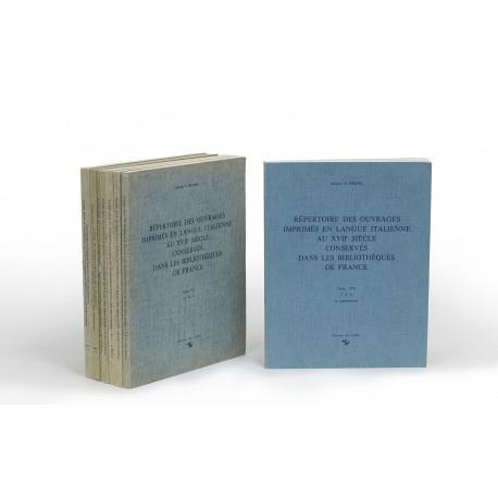 Répertoire des ouvrages imprimés en langue italienne au XVIIe siècle conservés dans les bibliothèques de France. Seconde édition