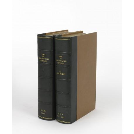 Essai de bibliographie hippique, donnant la description détaillée des ouvrages publiés ou traduits en Latin et en Français sur le cheval et la cavalerie § Supplément