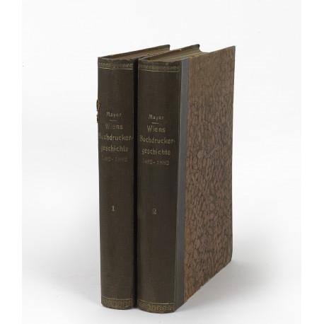 Wiens Buchdrucker-Geschichte 1482-1882