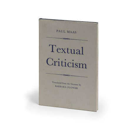 Textual criticism. Translated from the German by Barbara Flower