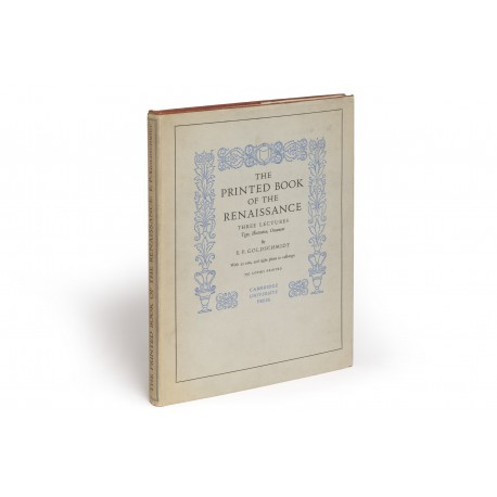 The Printed book of the Renaissance. Three lectures on type, illustration, ornament