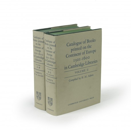 Catalogue of books printed on the continent of Europe, 1501-1600, in Cambridge libraries