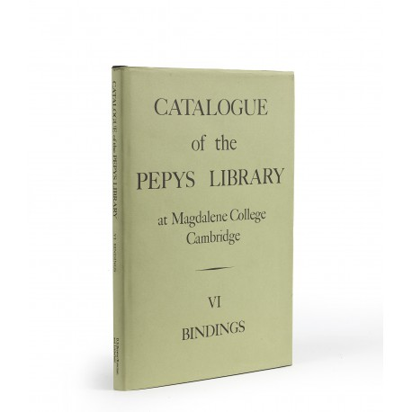 Catalogue of the Pepys Library, volume VI: Bindings