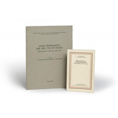 Arte tipografica del Sec. XVI in Italia : Bibliografia Italiana 1850-1979 § Bibliografia di bibliografie : edizioni italiane del XVI secolo (Mnemosyne, Ricerche sull'arte della memoria, 1)