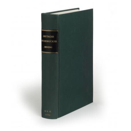 Die Buchdrucker des 16. und 17. Jahrhunderts im deutschen Sprachgebiet : 2., verbesserte und ergänzte Auflage (Beiträge zum Buch- und Bibliothekswesen, 12)