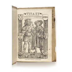 Charlemagne and Charles V in a woodcut by Anton Woensam von Worms. Height of binding 222 mm