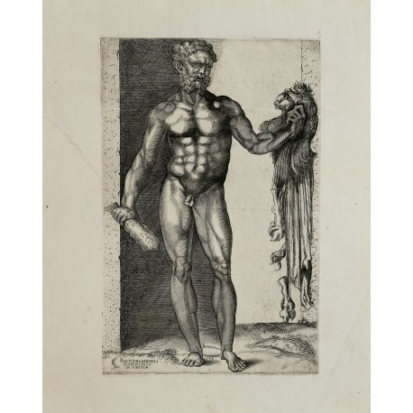 Anonymous engraving of a drawing by Baccio Bandinelli (platemark 354 × 227 mm, sheet 530 × 385 mm)