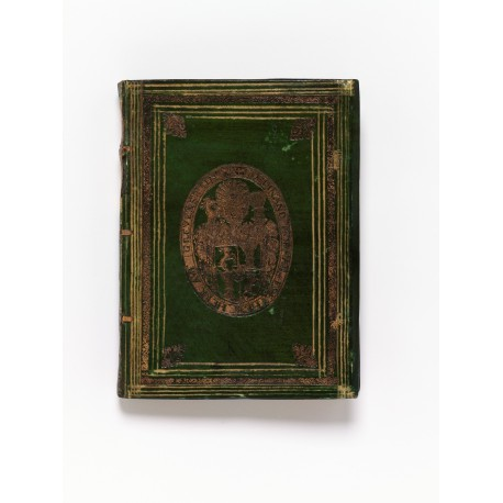 Bound at Prague in green-stained vellum for Ferdinand Hoffmann, Baron of Grünpühel and Strechau (1540-1607)