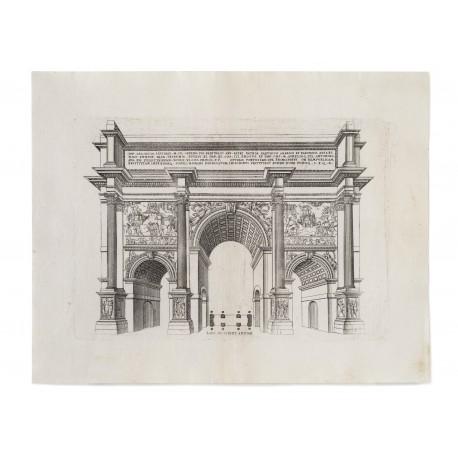 """""""Larc de Severe a Rome"""" (platemark 210 × 300 mm, sheet 296 × 380 mm)"""