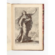 """Lucretia"" from La Galerie des femmes fortes, engraving by Gilles Rousselet and Abraham Bosse after a design by Claude Vignon"