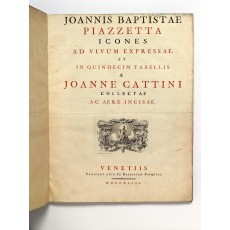 First issue of Cattini's Icones, one of four copies known. Page height 555 mm