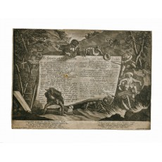 Mezzotint title to a print series recording a Carnival entertainment performed at Salzburg University in 1764 (298 × 420 mm, sheet)