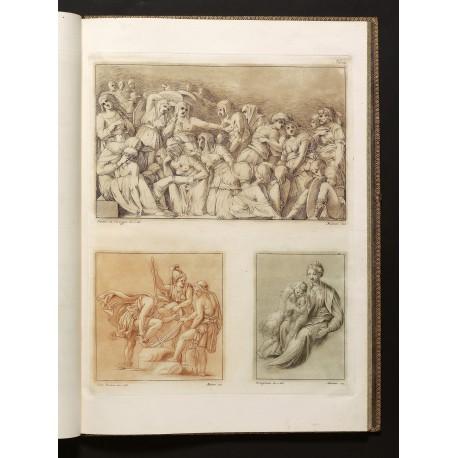 Drawings by Polidoro da Caravaggio, Giulio Romano, and Parmigianino, reproduced by Stefano Mulinari
