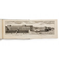 The Electoral Residence (1720-1760), incorporating the Schlossbibliothek (centre) and Schlosskirche (West Wing). Engraving by the Klauber brothers (665 × 212 mm, platemark)