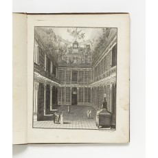 Engraving by Johann Berka of the newly-built Philosophical Library at Strahov Monastery in Prague