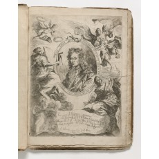 Title-plate, featuring a medallion portrait of Ferdinando Bibiena by Giuseppe Antonio Caccioli (448 × 330 mm, platemark)