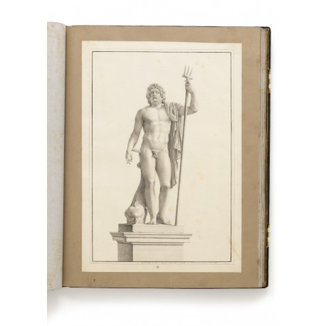 "Drawing 15 ""Nettuno di Cavaceppi"" (sheet 515 × 350 mm), a statue purchased in 1764 by Carlos III of Spain"
