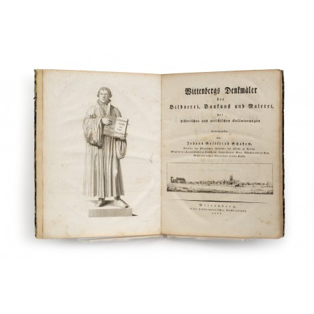 Schadow's bronze statue of Luther (Marktplatz, Wittenberg), engraved by Ferdinand Berger