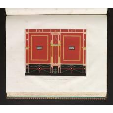 """Wand aus dem Hause des Diomedes zu Pompeji"", lithograph by Borsch after a drawing by Zahn, printed at the Königlichen Lithographischen Institut in Berlin (I, Heft 4, pl. 39)"