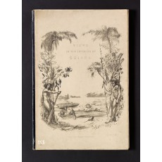 The lithograph on upper cover of the binding is from the same stone used for the title-page (but here printed in black only); it depicts the gargantuan Victoria regia water lily, which Schomburgk found in the upper reaches of the river Berbice, and brought back to England where a special house for it was built at Chatsworth.