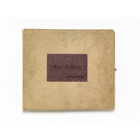 The architect's personal portfolio, inscribed: Meine Arbeiten / Ludwig Wirth (365 × 420 mm)