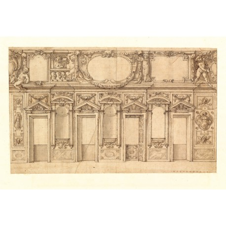 "Drawing from Cassiano dal Pozzo's ""Museo Cartaceo"" (240 × 395 mm)"