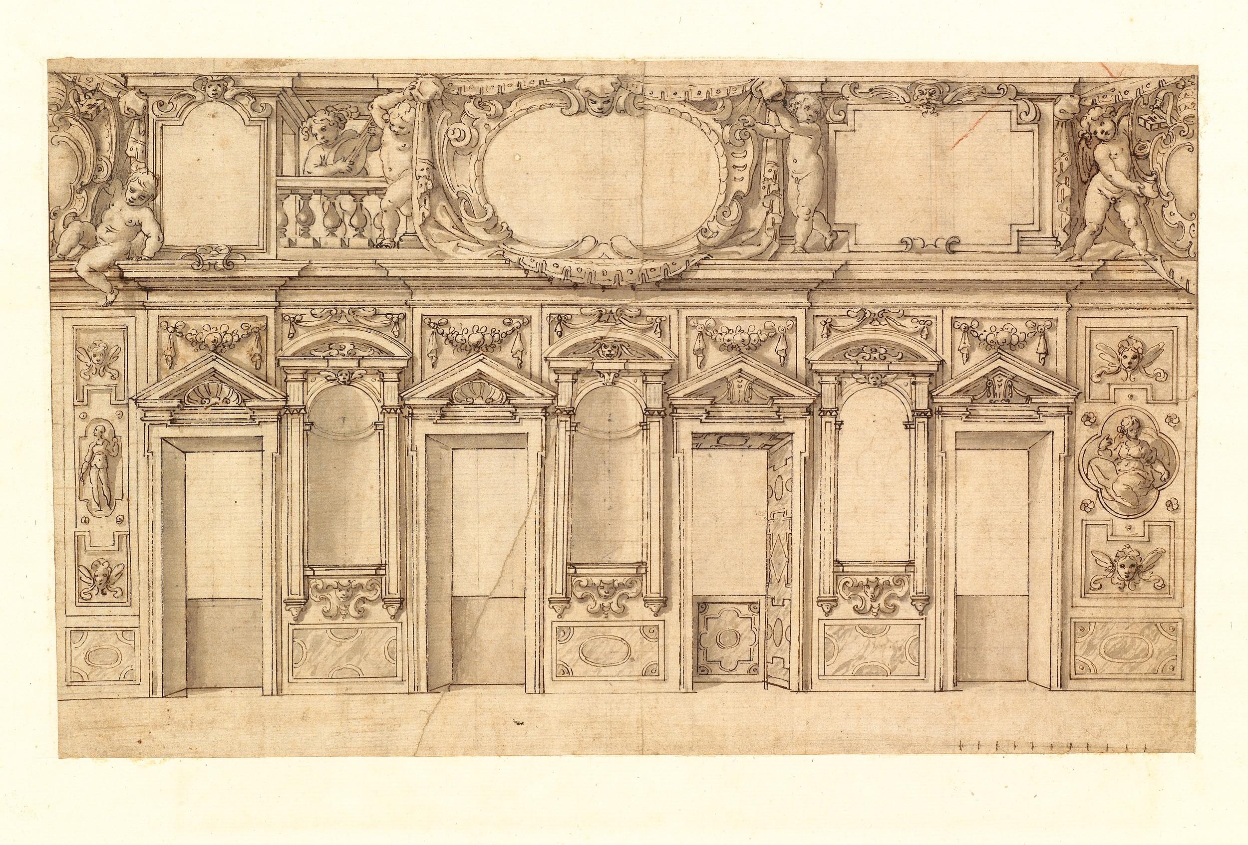 Alberti (Cherubino), 1553-1615 - Design for the decoration of a room ...