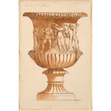 Anonymous Roman Draughtsman Study Of The Borghese Vase Study Of