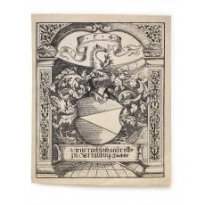 Woodcut exlibris (border 175 × 144 mm)