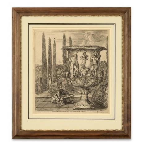 Villa Medici in Rome, etching by Stefano della Bella (305 × 275 mm)