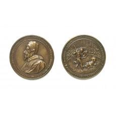 Medal by Gioacchino Francesco Travani after a design by Gian Lorenzo Bernini (diameter 98 mm)