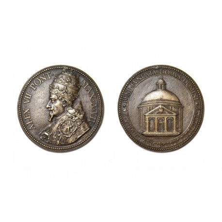 Medal by Gioacchino Francesco Travani after a design by Gian Lorenzo Bernini (67 mm)
