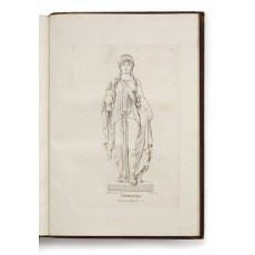 "Life-size marble statue of ""The Goddess of Hope"", commissioned in May 1818 by Caroline von Humboldt (today in Nationalgalerie, Berlin). Engraving by Ferdinando Mori (305 × 200 mm, platemark)"