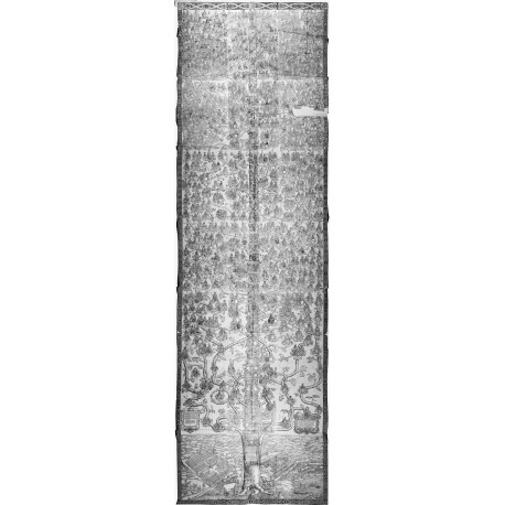 Monumental woodcut genealogy, printed on twenty-one sheets (dimensions overall 415 × 126 cm)